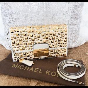Rare Michael Kors Studded Leather Gia Clutch